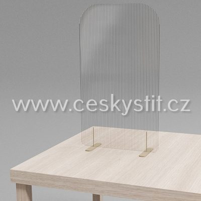 stolní paravan úzký transparent